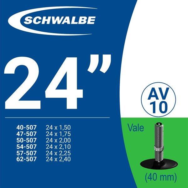 """RUỘT XE ĐẠP 24"""" AV10 (40mm)"""