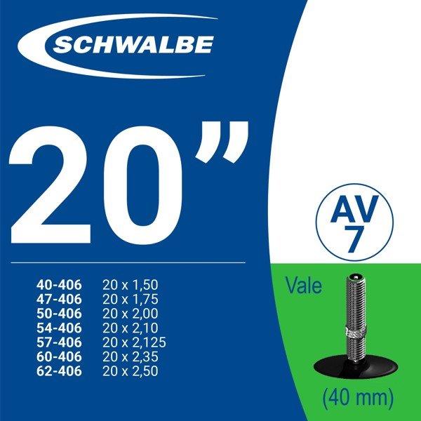 """RUỘT XE ĐẠP 20"""" AV7 (40mm)"""