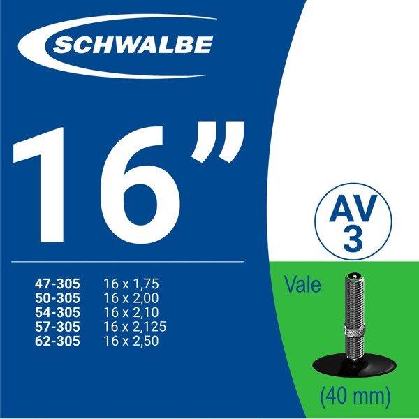 """RUỘT XE ĐẠP 16"""" AV3 (40mm)"""
