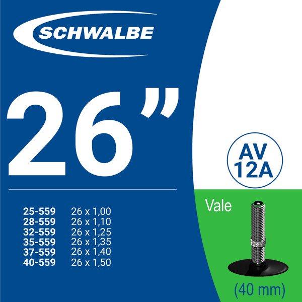 """RUỘT XE ĐẠP 26"""" AV12A (40mm)"""