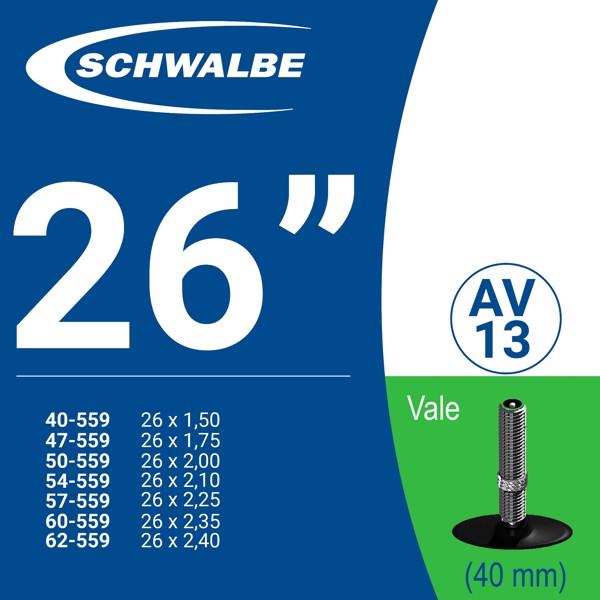 """RUỘT XE ĐẠP 26"""" AV13 (40mm)"""