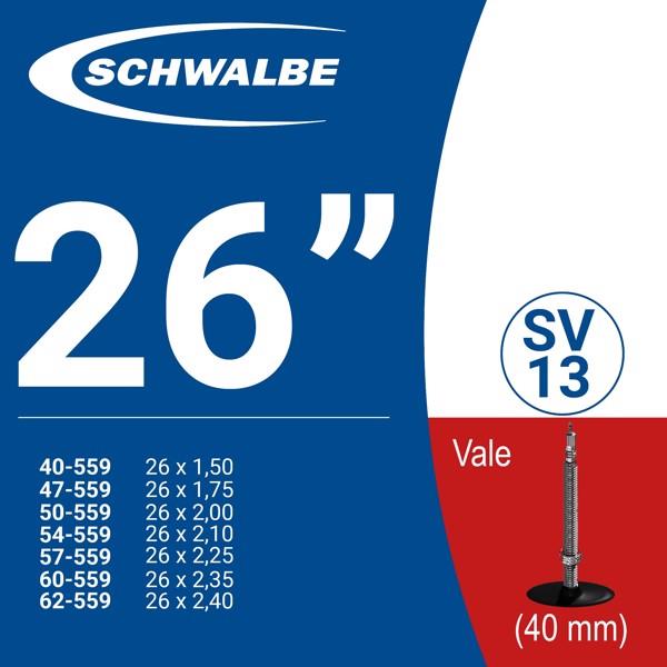 """RUỘT XE ĐẠP 26"""" SV13 (40mm)"""