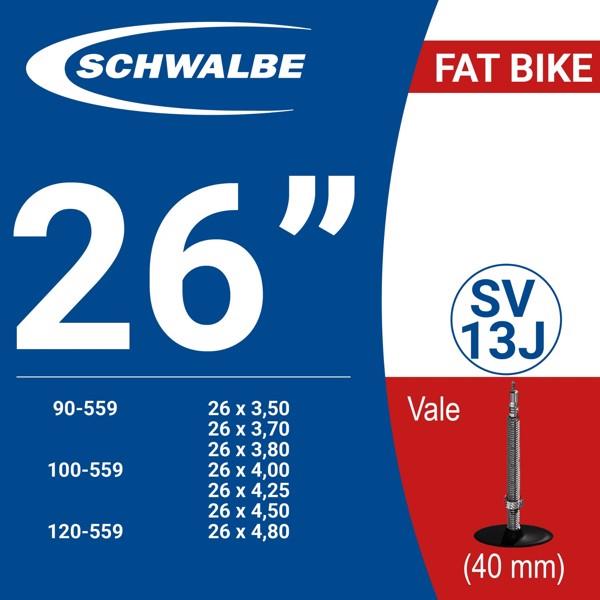 """RUỘT XE ĐẠP 26"""" SV13J (40mm)"""