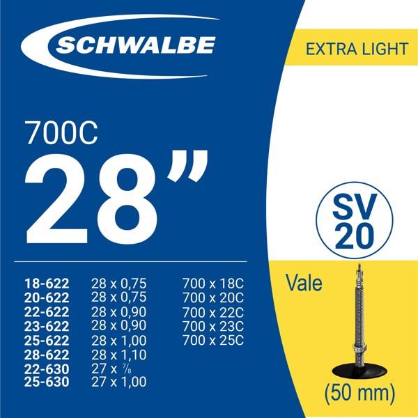 RUỘT XE ĐẠP 700c SV20 (50mm)