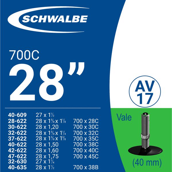 RUỘT XE ĐẠP 700c AV17 (40mm)