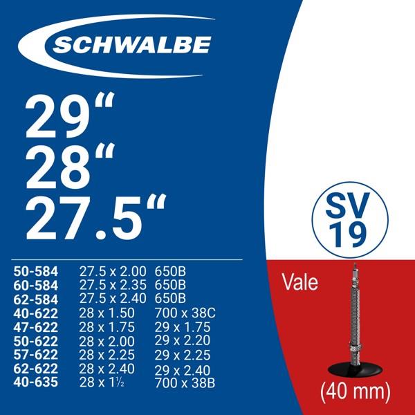 "SCHWABLE TUBE 29"" SV19 (40mm)"