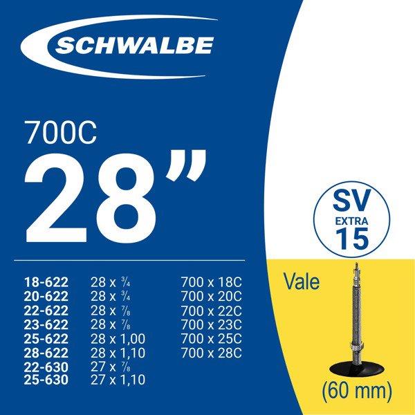 RUỘT XE ĐẠP 700c SV15 (60mm)